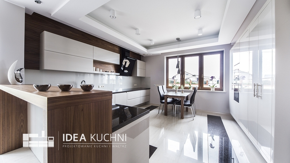 Projekt kuchni - nowoczesny styl