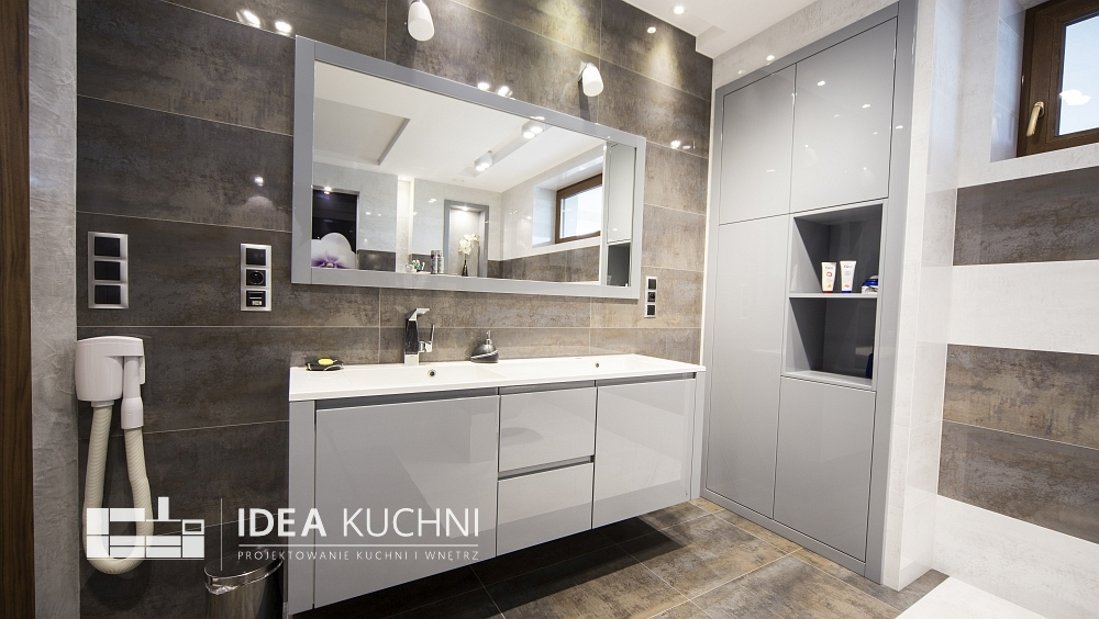 Projekt łazienki - nowoczesny styl