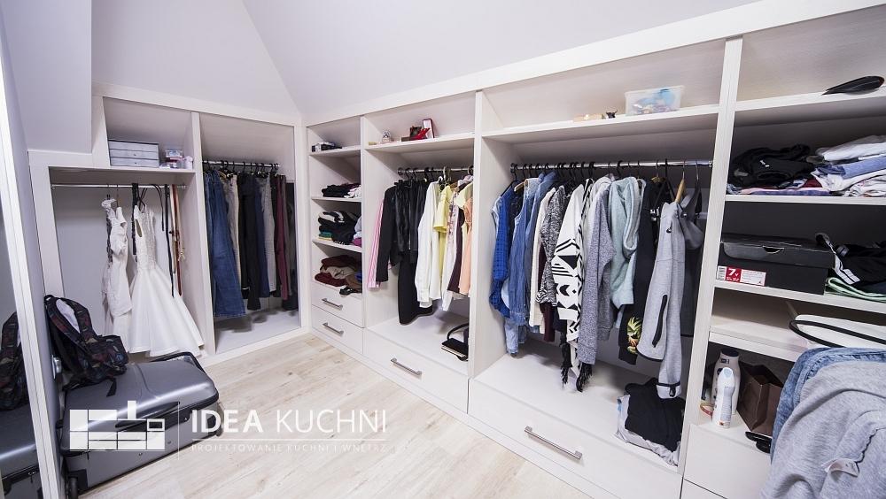 Projekt garderoby - nowoczesny styl
