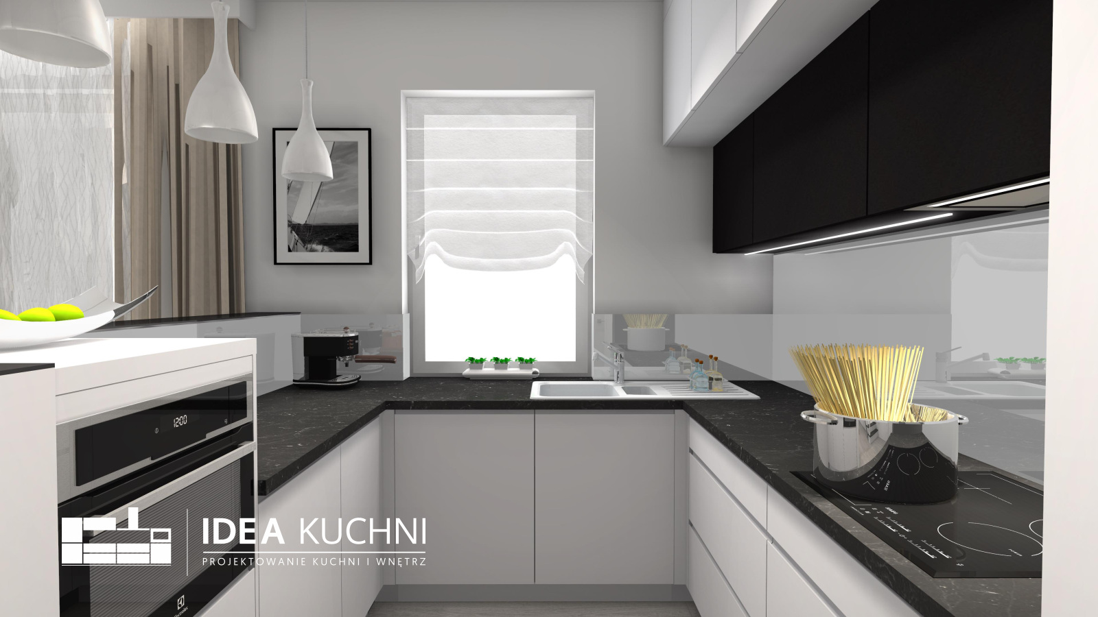 Kuchnia i Salon | Lipkow | Kuchnia Nowoczesna | Kuchnia Glamour | Kuchnia Półwysep | Kuchnia biała |
