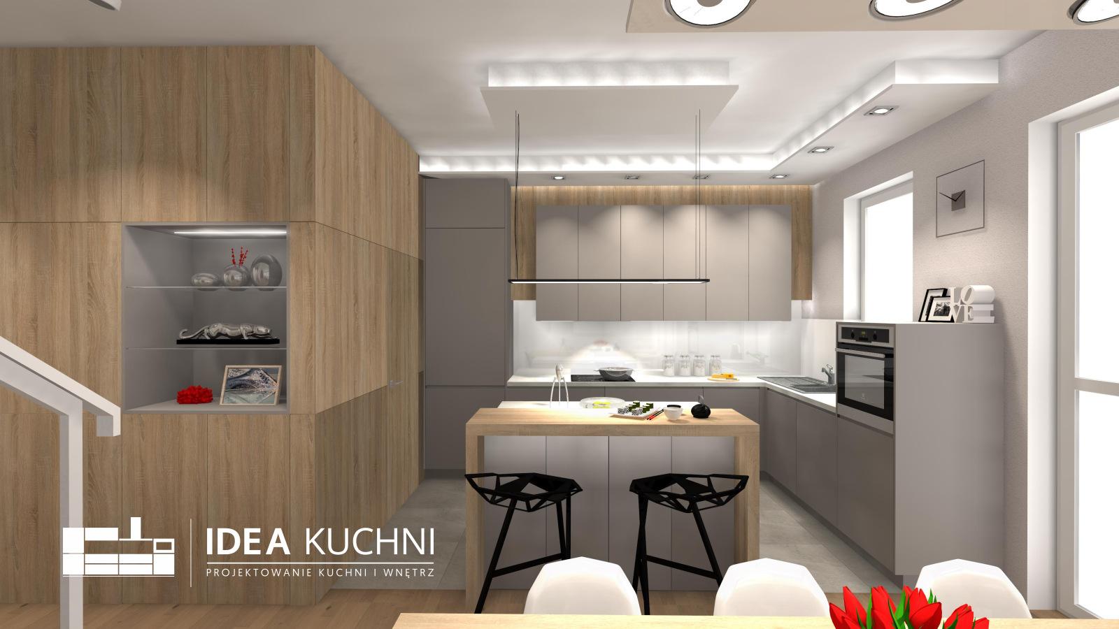 Kuchnia | Lipków3 | Kuchnia Nowoczesna | Szara Kuchnia z mdf-u