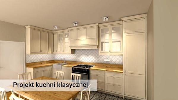 Kuchnia | Pruszków | Kuchnia Klasyczna | Kuchnia kremowa z drewna