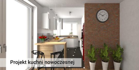 Nowoczesna kuchnia z mdf-u - Pruszków - Warszawa