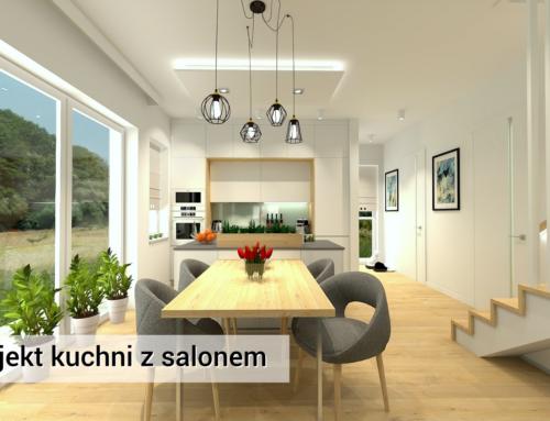 Kuchnia i Salon | Zielonki | Kuchnia Biała | Kuchnia Nowoczesna | Kuchnia z MDF |