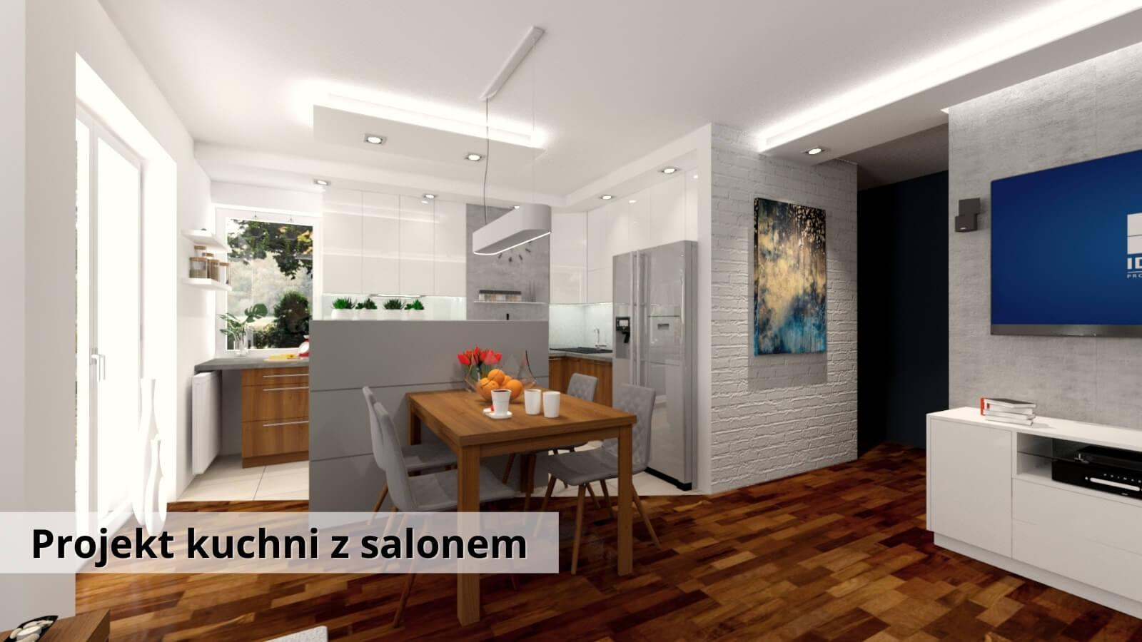 Aranżacja Kuchni z salonem