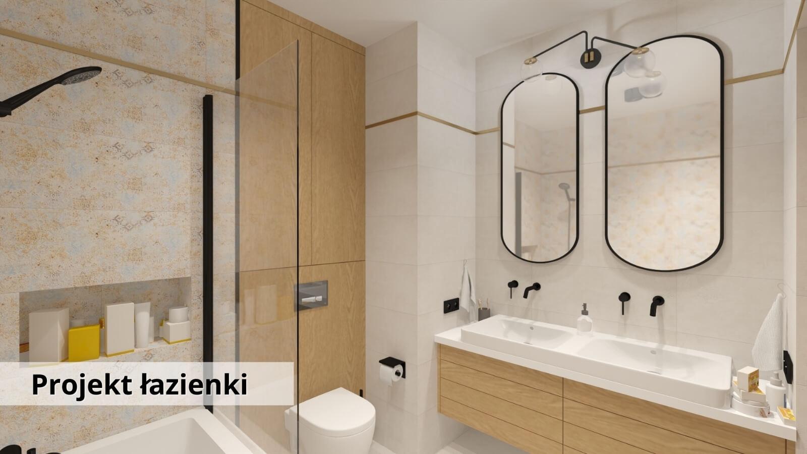 Projekt i aranżacja łazienki - Warszawa