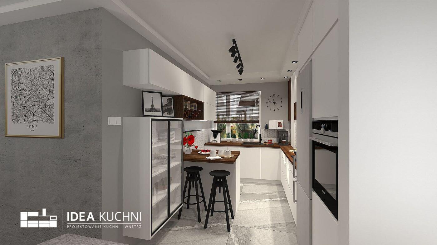 Projekt nowoczesnej kuchni z mdfu
