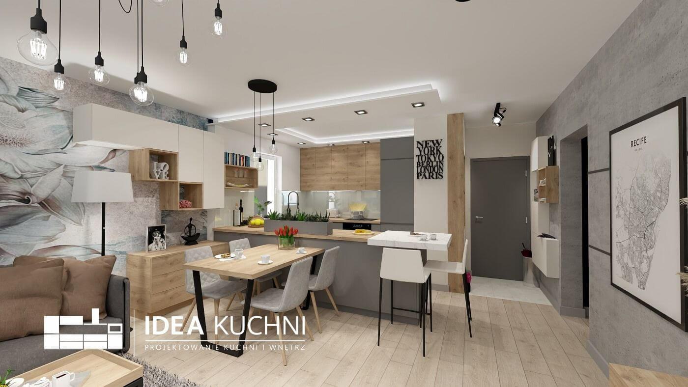 Kuchnia z salonem - Warszawa