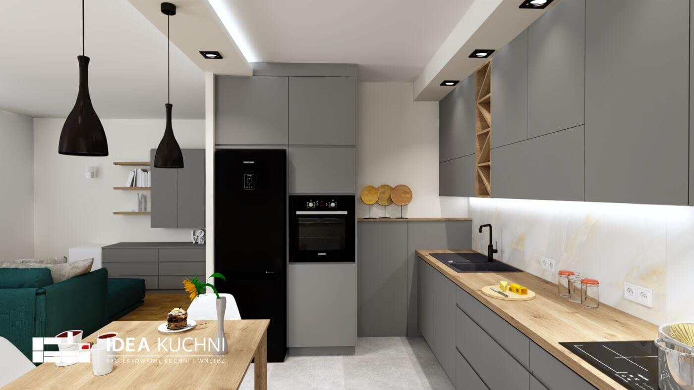 Projekt nowoczesnej, otwartej kuchni