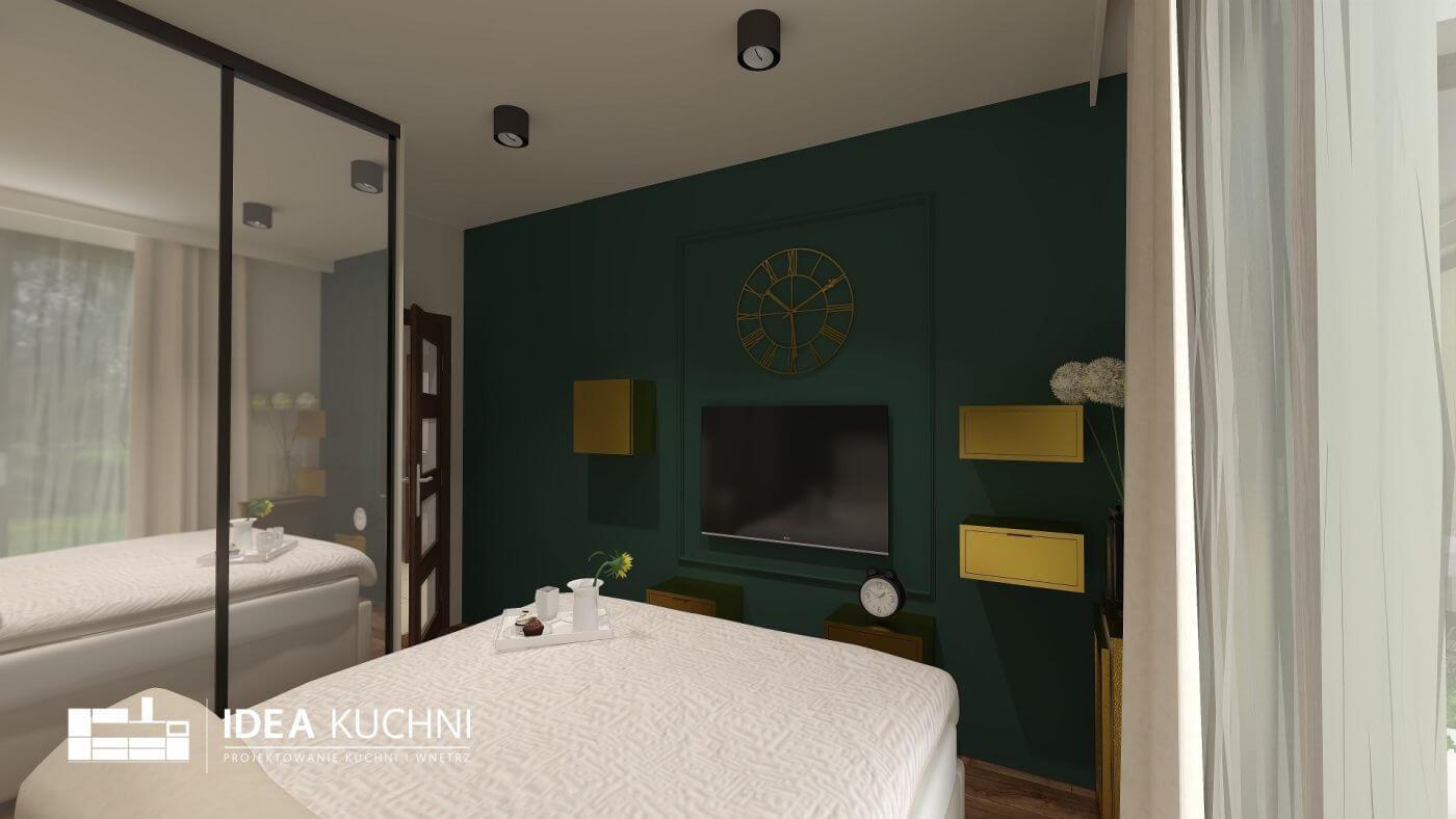 Kompleksowy projekt sypialni - projekt pomieszczenia