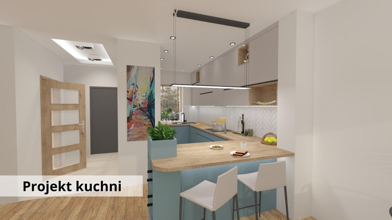 Nowoczesny projekt kuchni
